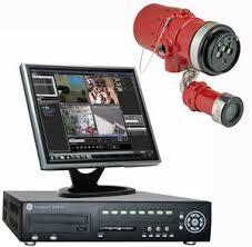 cámara videovigilancia y monitor