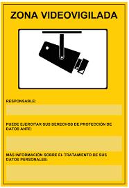 cartel distintivo zona videovigilada.